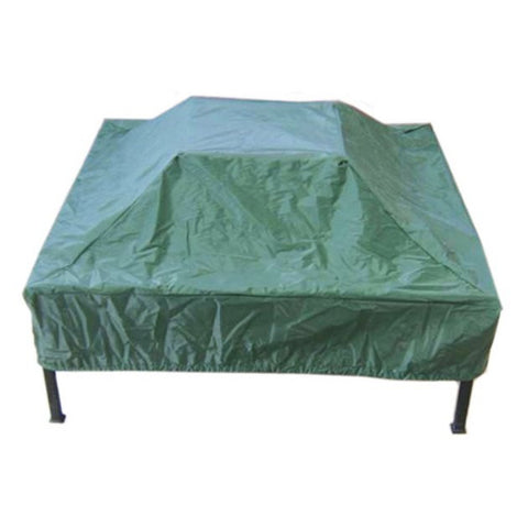 Deeco Consumer Products DM-RC-SF-G Square Fire Pit Cover Green - Peazz.com