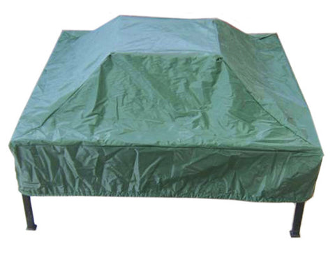 Deeco Consumer Products DM-RCV-SF Square Fire Pit Green Vinyl - Peazz.com