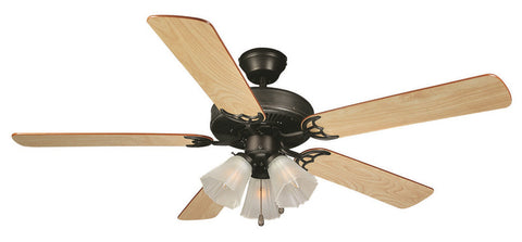 "Design House 153932 #153932 Millbridge Ceiling Fan 52"" Oil Rubbed Bronze Oil Rubbed Bronze - Peazz.com"