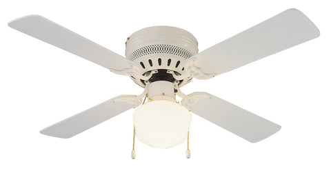 "Design House 157958 #157958 Millbridge Hugger Ceiling Fan 42"" White White - Peazz.com"
