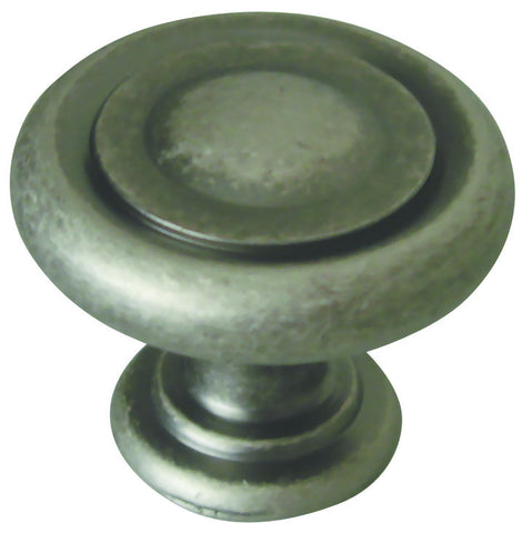 Design House 203943 Town Square Knob Rustic Pewter - Peazz.com