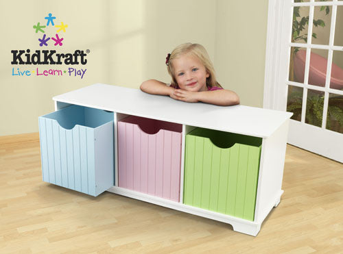 Kidkraft Nantucket Storage Bench Pastel 14565
