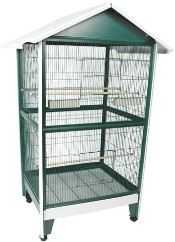 "A&E Cage 100B-1 Large Pitched Roof Aviary 32'x28""x72 - Peazz.com"