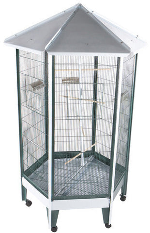 "A&E Cage 100C-1 36""x36"" Hexagon Aviary - Peazz.com"