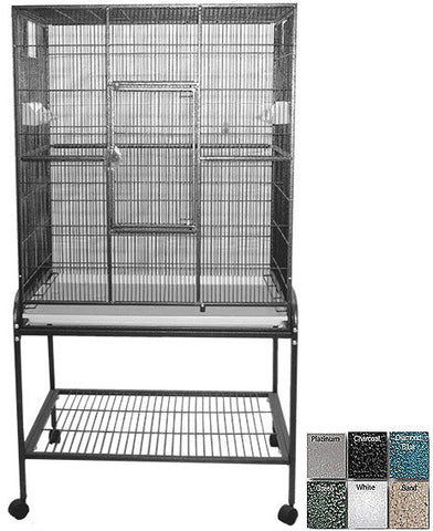 "A&E Cage 13221 Black 32""x21"" Flight Cage & Stand - Peazz.com"