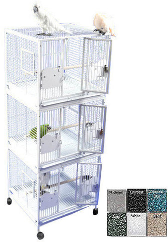 "A&E Cage 2422-3 Black 24""x22"" Triple Stack - Peazz.com"