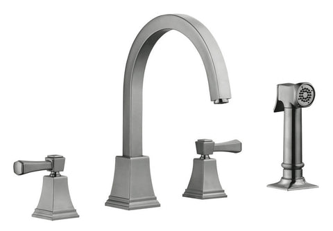 Design House 522110 Torino Kitchen Faucet With Sprayer Satin Nickel - Peazz.com