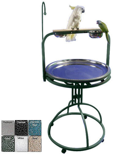 "A&E Cage 5-2828 Platinum 28"" Diameter Play Stand with Toy Hook"