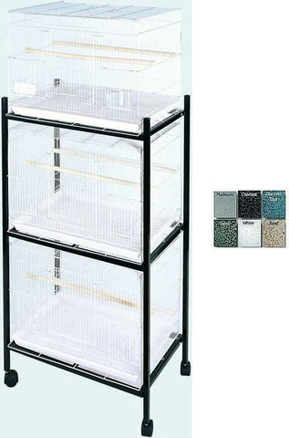 A&E Cage 503 Stand-3 White 3 Tier, Stand for 503 Cages - Peazz.com