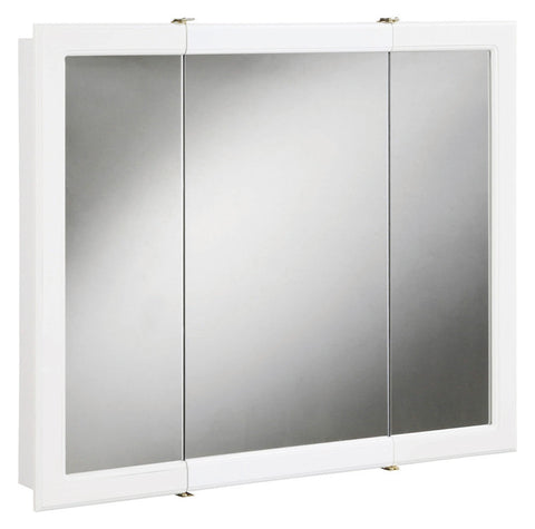 "Design House 531434 Concord 30"" Triple-View Cabinet White - Peazz.com"