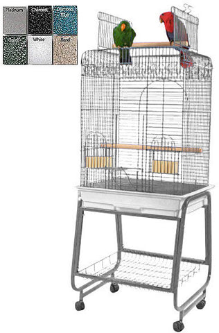 "A&E Cage 702 White 22""x18"" Play Top Cage with Removable Stand - Peazz.com"