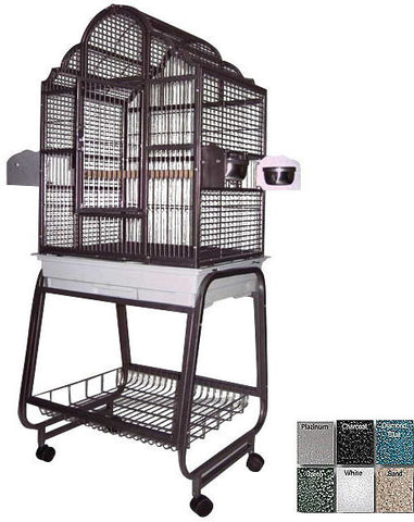 "A&E Cage 703 Black 22""x18"" Victorian Top Cage with Removable Stand - Peazz.com"