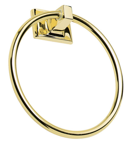 Design House 533349 Millbridge Towel Ring Polished Brass - Peazz.com