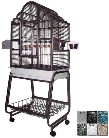 "A&E Cage 703 Platinum 22""x18"" Victorian Top Cage with Removable Stand - Peazz.com"