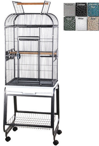 "A&E Cage 732217 Black 22""x17"" Play Top with Plastic Base - Peazz.com"