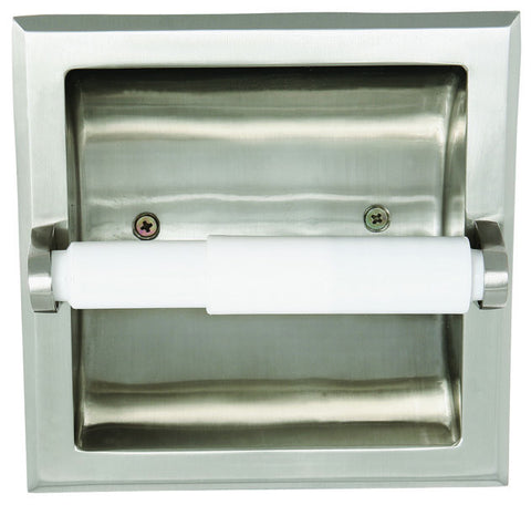 Design House 539189 Millbridge Recessed Toilet Paper Holder Satin Nickel - Peazz.com