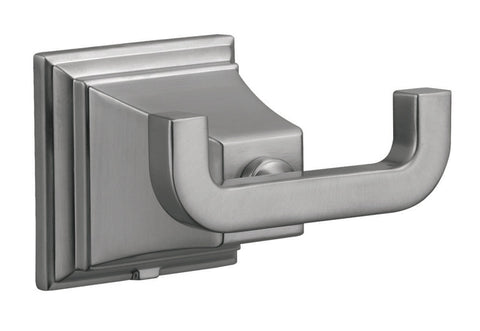 Design House 560433 Torino Double Robe Hook Satin Nickel - Peazz.com