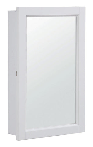 "Design House 590505 Concord 16"" Single Door Medicine Cabinet White - Peazz.com"