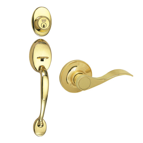 Design House 700559 Covtry Handleset/Sprgdale/ Web Polished Brass - Peazz.com