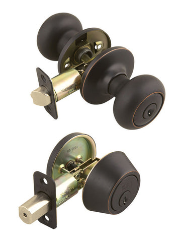 Design House 701813 Cambrid/Combo/Entry/Scroll/ 2W Black Oil Rubbed Bronze - Peazz.com
