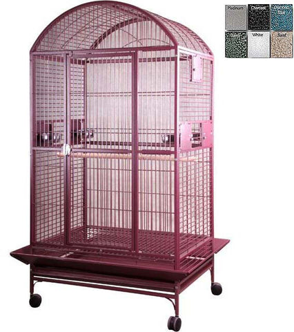 "A&E Cage 9004030 Burgundy 40""x30"" Dome Top Cage with 1"" Bar Spacing - Peazz.com"