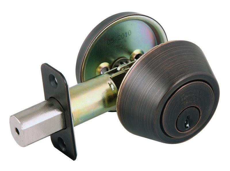 Design House 702456 Deadbolt/Scroll/ 2W Box Rad Ka4 Brushed Bronze