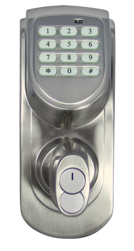 Design House 702530 Keypad Deadbolt Satin Nickel