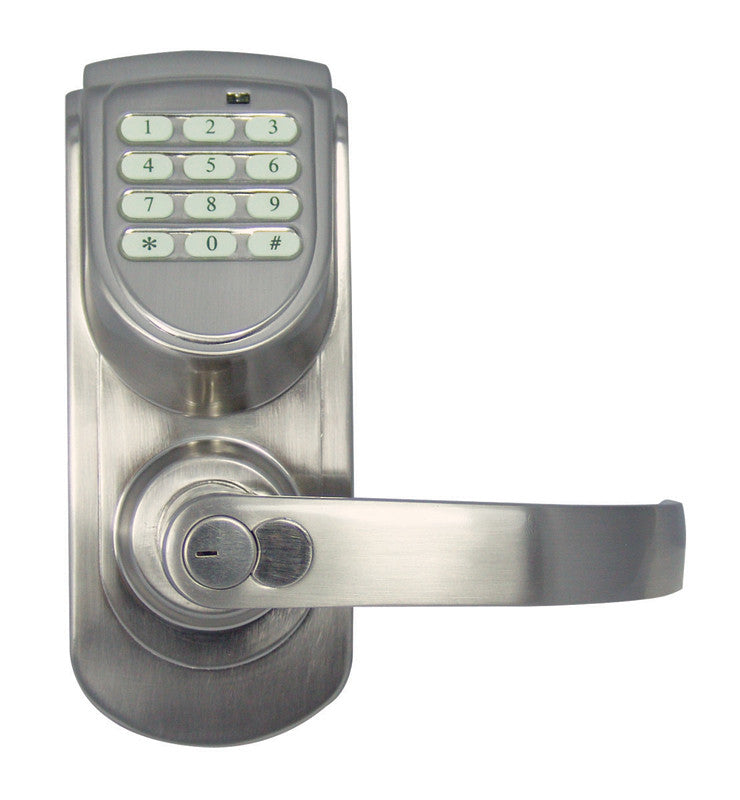 Design House 702944 Keypad Entry Lever/ Right Satin Nickel