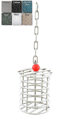 A&E Cage AE-RTFL Black Large Round Bird Toy Feeder - Peazz.com