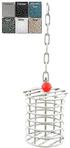 A&E Cage AE-RTFS Black Small Round Bird Toy Feeder - Peazz.com
