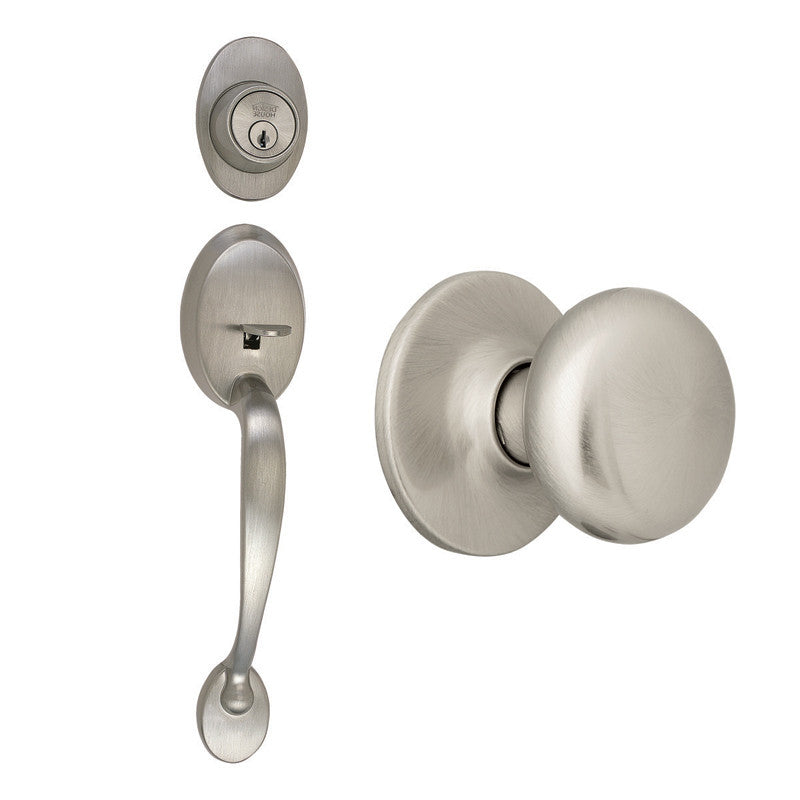 Design House 754549 Covtry Handleset/Cambrdge/ 6W Web Satin Nickel