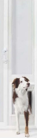 "Ideal 78"" 150 Series Vinyl Insulated Pet Patio Door - Medium (78VIP150M) - Peazz.com - 1"