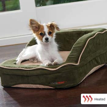 "Dolce Vita Therabed Heated Pet Bed - Rectangular Small 24"" x 20"" - Peazz.com"