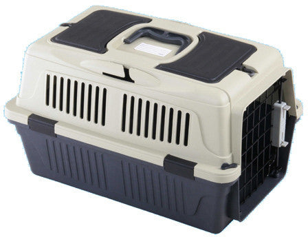 "A&E Cage CD-4 Red 25"" x 16 x 16"" - Case of 6 Deluxe Pet Carrier w/ storage compartment - Peazz.com"