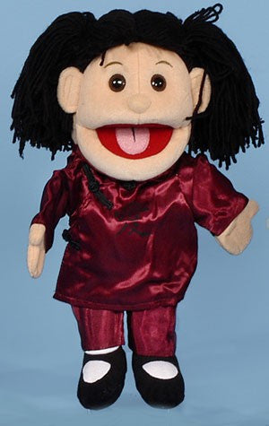 "14"" Asian Girl Glove Puppet - Peazz.com"