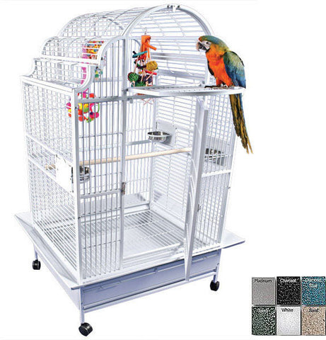 "A&E Cage GC6-4032 Platinum 40""x32"" Opening Victorian Top Cage - Peazz.com"