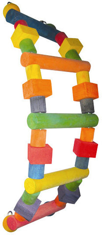 A&E Cage HB149S Wood Ladder Happy Beaks Bird Toy - Peazz.com