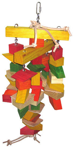A&E Cage HB46317 Parallelogram Large Wooden Bird Toy - Peazz.com