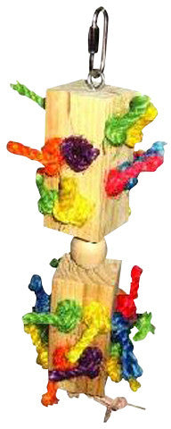 A&E Cage HB46319 Wood Knots Trapped Bird Toy in Blocks - Peazz.com