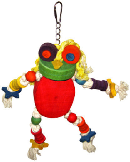 A&e Cage Hb46349 The Silly Wood Frog Bird Toy