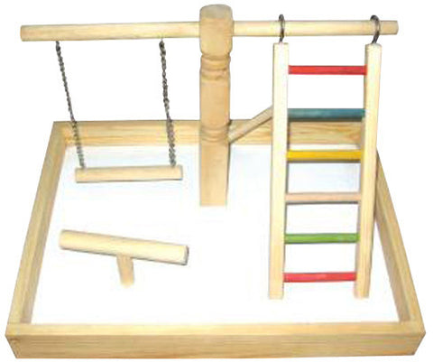 A&E Cage HB46410 Wood Tabletop Play Station - Peazz.com