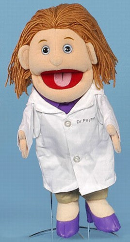 "14"" Female Doctor Puppet White"