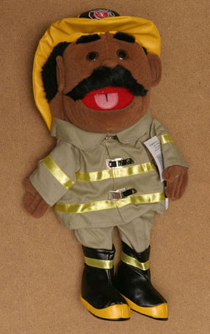 "14"" Firefighter Glove Puppet White - Peazz.com"