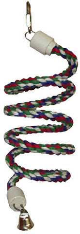 A&E Cage HB551 Small Rainbow Cotton Rope Boing with Bell - Peazz.com
