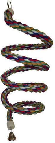 A&E Cage HB556 Extra Large Rainbow Cotton Rope Boing with Bell - Peazz.com