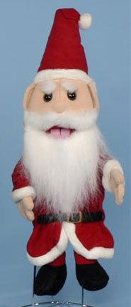"14"" Santa Clause Glove Puppet - Peazz.com"