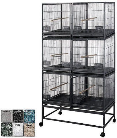 A&E Cage LOR4020-3 Black 6 Unit Breeder Cage - Peazz.com