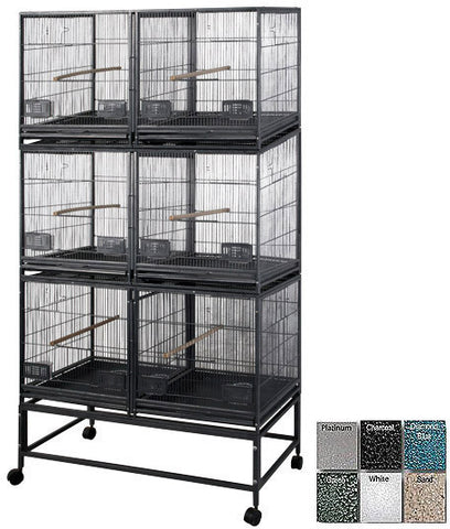 A&E Cage LOR4020-3 White 6 Unit Breeder Cage - Peazz.com