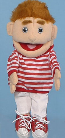 "14"" Striped Boy Glove Puppet - Peazz.com"