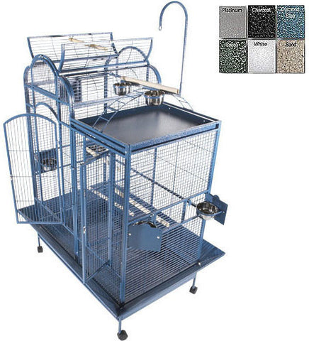 "A&E Cage PC-4226D Black 42""x26"" Split Level House Cage - Peazz.com"